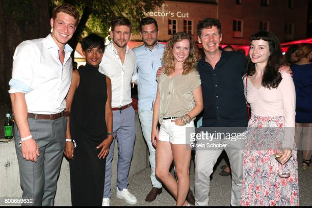 Daniel Donskoy Dennenesch Zoude Steve Windolf Lukas Piloty Cornelia Groeschel Thomas Clemens and Gloria Endres during the 'Audi Director's cut' Party...