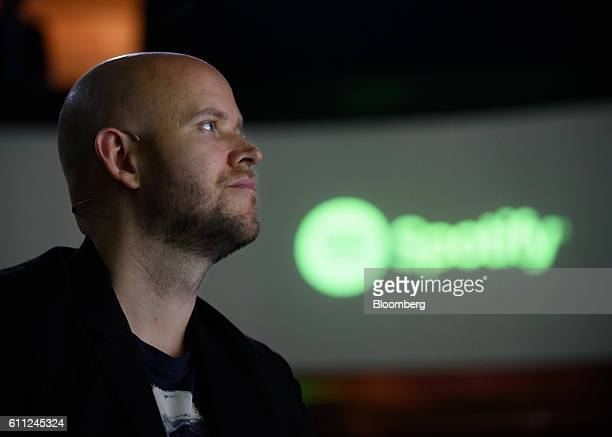 Daniel Ek chief executive officer and cofounder of Spotify AB looks on at a news conference in Tokyo Japan on Thursday Sept 29 2016 Spotify Ltd is...