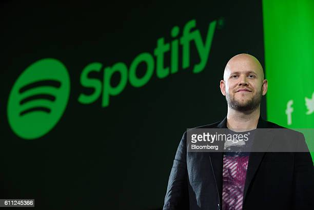 Daniel Ek chief executive officer and cofounder of Spotify AB stands for a photograph after a news conference in Tokyo Japan on Thursday Sept 29 2016...