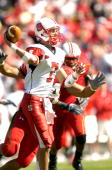 Daniel Evans of the North Carolina State Wolfpack throws a pass against the Maryland Terrapins October 21 2006 at Byrd Stadium in College Park...