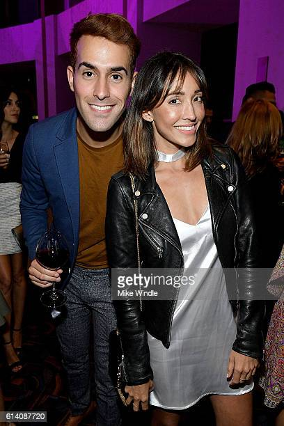 Daniel Fernandez and Fernanda Romero attend the after party for the screening of STX Entertainment's 'Desierto' on October 11 2016 in Los Angeles...