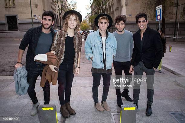 Daniel Fernandez Delgado Alvaro Gango David Lafuente Blas Canto and Carlos Marco of Auryn are seen and on December 1 2015 in Madrid Spain