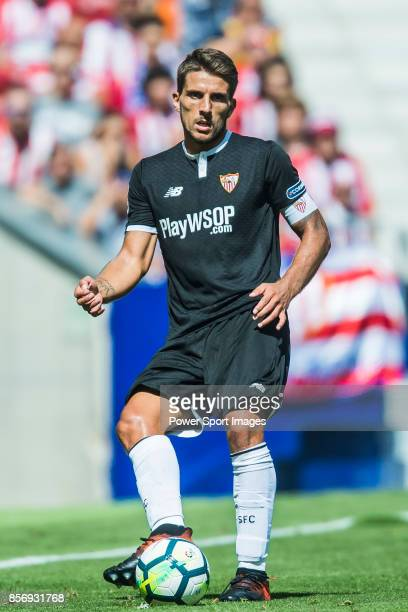 Daniel Filipe Martins Carrico of Sevilla FC in action during the La Liga 201718 match between Atletico de Madrid and Sevilla FC at the Wanda...