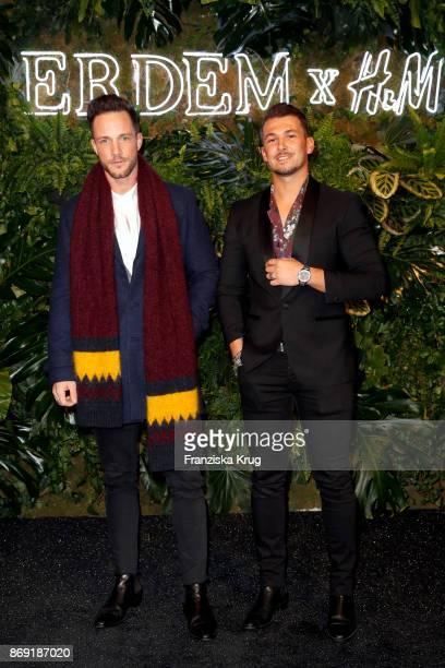 Daniel Fox and Sandro Rasa wearing ERDEM X HM attend the ERDEM x HM PreShopping Event on November 1 2017 in Berlin Germany