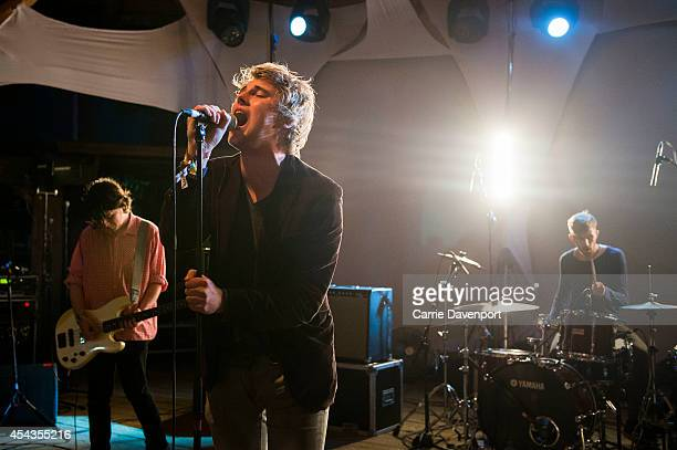 Daniel Fox Dara Kiely and Adam Faulkner of Girl Band perform on stage at in Body and Soul at Electric Picnic at Stradbally Estate on August 29 2014...