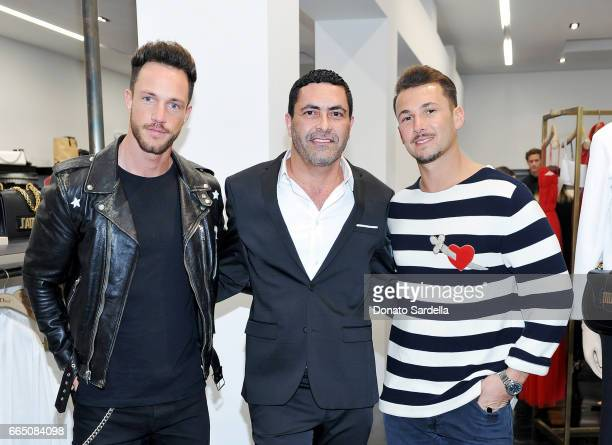 Daniel Fuchs Luis Rodriguez and Sandro Rasa attend DIOR SS17 Collection Launch at Maxfield on April 5 2017 in Los Angeles California