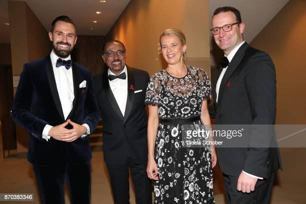 Daniel Funke husband of Jens Spahn Michel Sidibe Unaids Executive Director IKH Princess Mabel von OranienNassau Mabel Wisse Smit widow of Prince...
