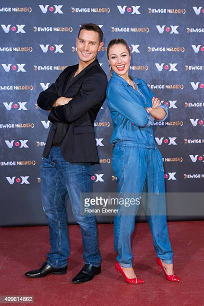 Daniel Gaertner and Ruth Moschner attend a photo call for the new tv show 'Ewige Helden' on December 2 2015 in Cologne Germany