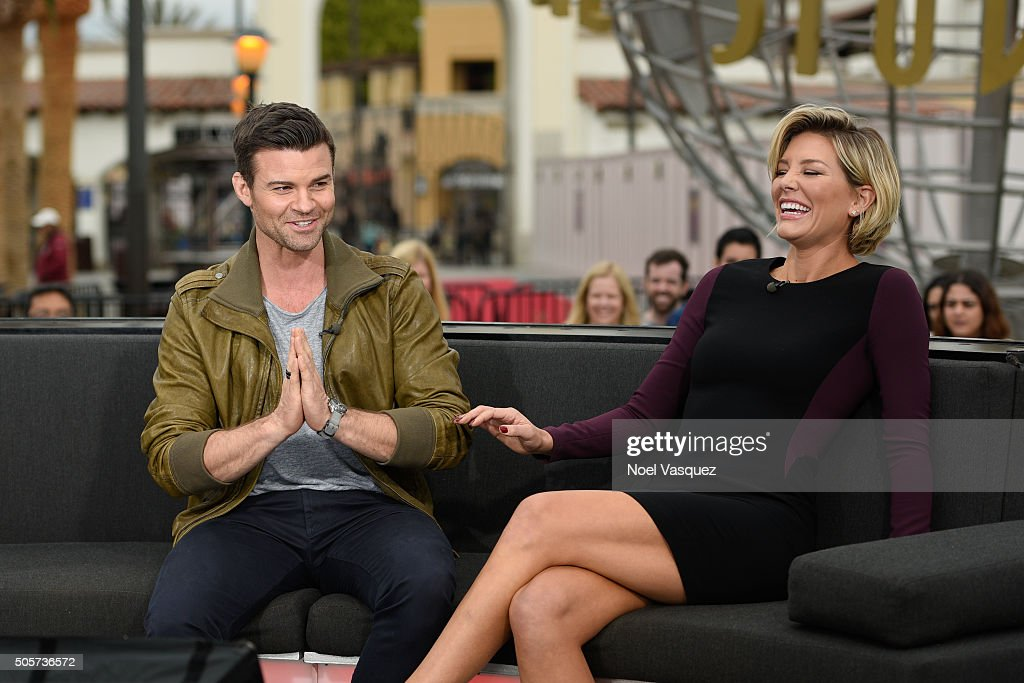 <a gi-track='captionPersonalityLinkClicked' href=/galleries/search?phrase=Daniel+Gillies&family=editorial&specificpeople=675058 ng-click='$event.stopPropagation()'>Daniel Gillies</a> (L) and <a gi-track='captionPersonalityLinkClicked' href=/galleries/search?phrase=Charissa+Thompson&family=editorial&specificpeople=5523701 ng-click='$event.stopPropagation()'>Charissa Thompson</a> visit 'Extra' at Universal Studios Hollywood on January 19, 2016 in Universal City, California.
