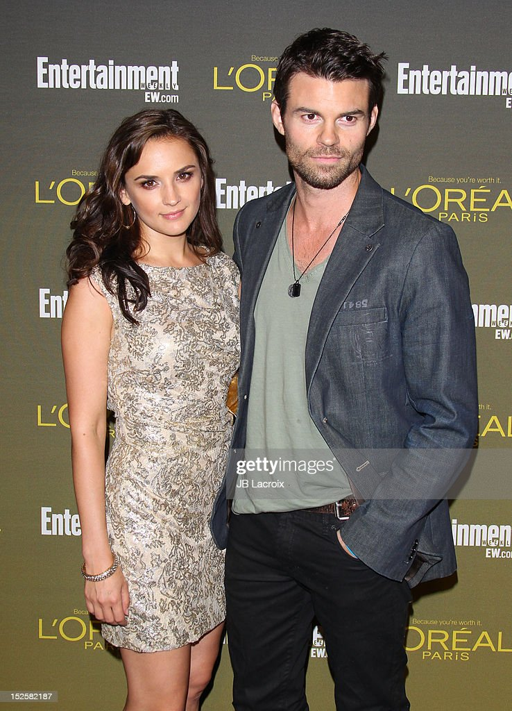 Daniel Gillies and Rachael Leigh Cook attend the 2012 Entertainment Weekly Pre-Emmy Party at Fig & Olive Melrose Place on September 21, 2012 in West Hollywood, California.