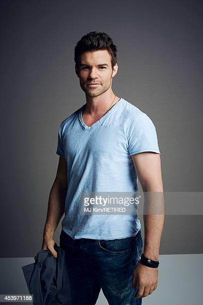 Daniel Gillies poses for a portrait at the Getty Images Portrait Studio powered by Samsung Galaxy at ComicCon International 2014 on July 24 2014 in...