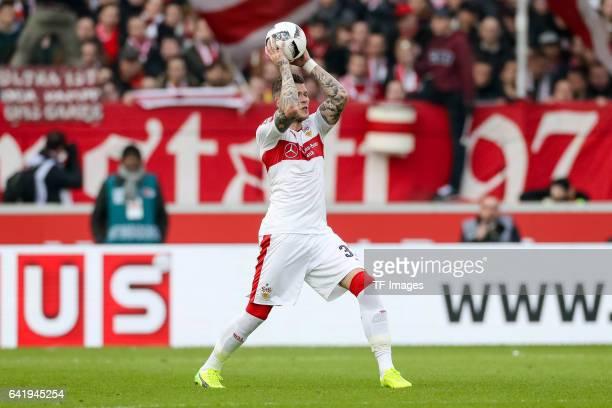 Daniel Ginczek of Stuttgart in action during the Second Bundesliga match between VfB Stuttgart and SV Sandhausen at MercedesBenz Arena on February 12...