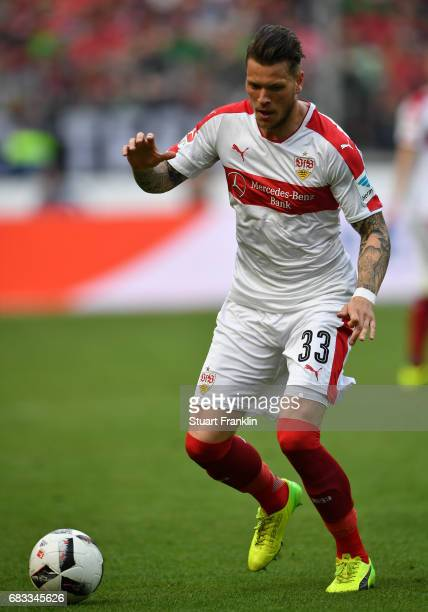 Daniel Ginczek of Stuttgart in action during the Second Bundesliga match between Hannover 96 and VfB Stuttgart at HDIArena on May 14 2017 in Hanover...