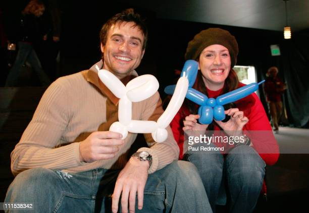 Daniel Goddard and Joely Fisher during Sony Pictures Entertainment LINKS Volunteer Group Annual Children's Holiday Party at Sony Pictures...