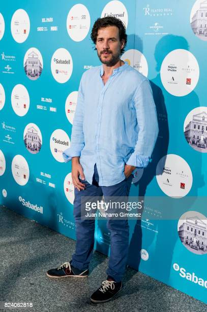 Daniel Grao attends Rosaio concert at Teatro Real on July 28 2017 in Madrid Spain