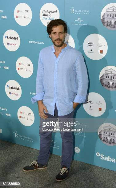 Daniel Grao attends Rosario concert at the Royal Theatre on July 28 2017 in Madrid Spain