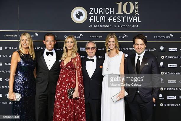 Daniel Grieder Dee Ocleppo Tommy Hilfiger Nadja Schildknecht and Karl Spoerri attend the Award Night Green Carpet Arrivals during Day 10 of Zurich...