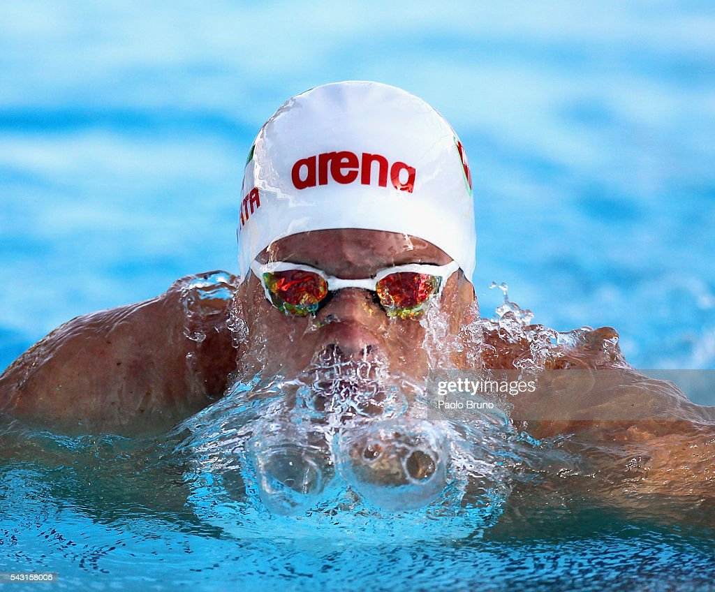 Daniel Gyurta of Hungary competes in the Men's 200m Breaststroke Final during the 53rd 'Sette Colli' International Swimming Trophy at Stadio del Nuoto on June 26, 2016 in Rome, Italy.