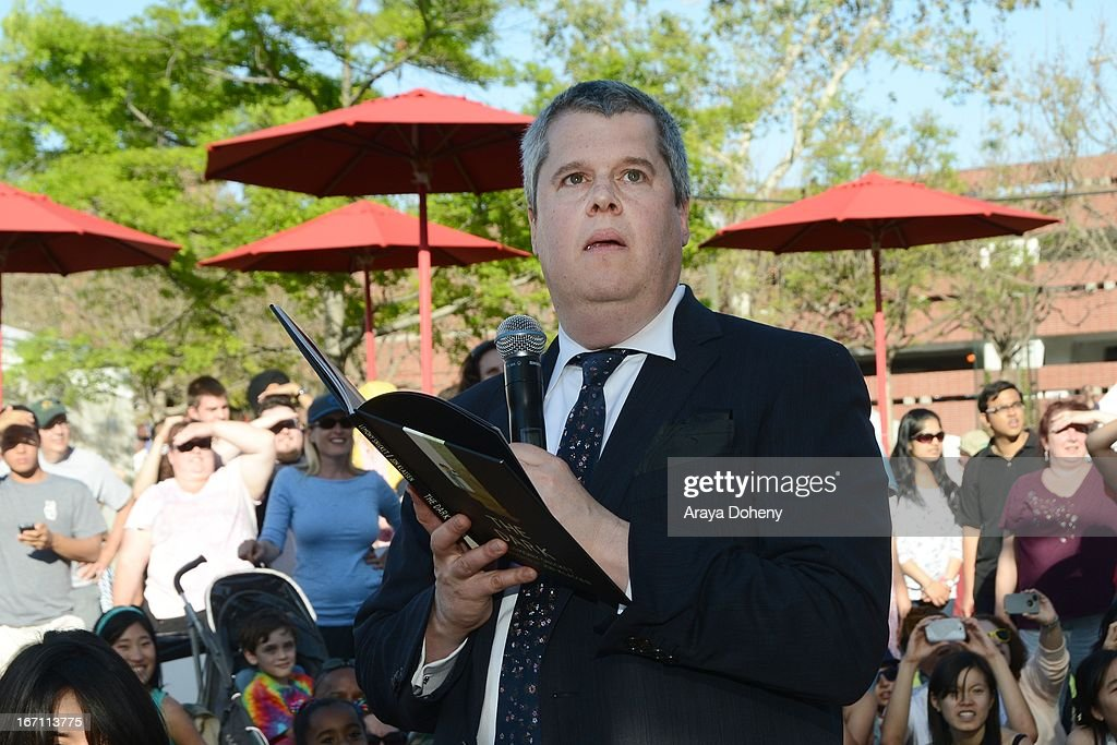 <a gi-track='captionPersonalityLinkClicked' href=/galleries/search?phrase=Daniel+Handler&family=editorial&specificpeople=2643549 ng-click='$event.stopPropagation()'>Daniel Handler</a> aka Lemony Snicket attends the 18th Annual Los Angeles Times Festival of Books - Day 1 at USC on April 20, 2013 in Los Angeles, California.
