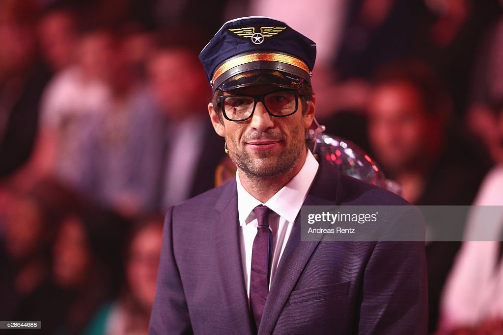 Daniel Hartwich is seen on stage at the 8th show of the television competition 'Let's Dance' on May 6, 2016 in Cologne, Germany.