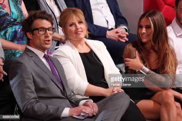 Daniel Hartwich Maite Kelly and Sophia Thomalla during the 10th show of the tenth season of the television competition 'Let's Dance' on May 26 2017...