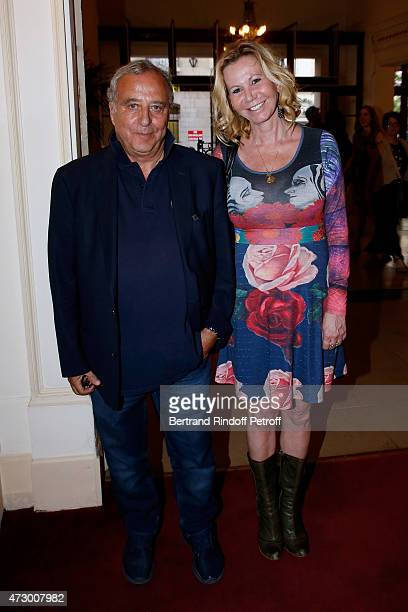 Daniel Hechter and Fiona Gelin attend the 'Open Space' Theater Play at Theatre de Paris on May 11 2015 in Paris France