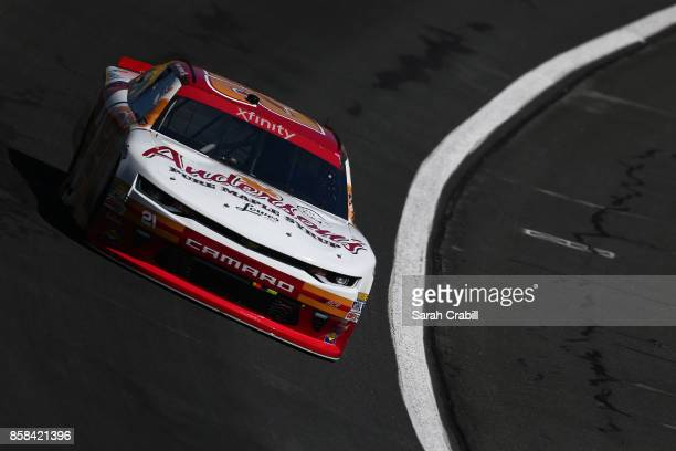 Daniel Hemric driver of the Anderson's Maple Syrup Chevrolet practices for the NASCAR XFINITY Series Drive for the Cure 300 presented by Blue Cross...