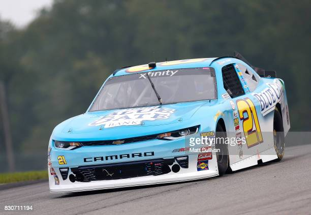 Daniel Hemric driver of the Blue Gate Bank Chevrolet practices for the NASCAR XFINITY Series MidOhio Challenge at MidOhio Sports Car Course on August...