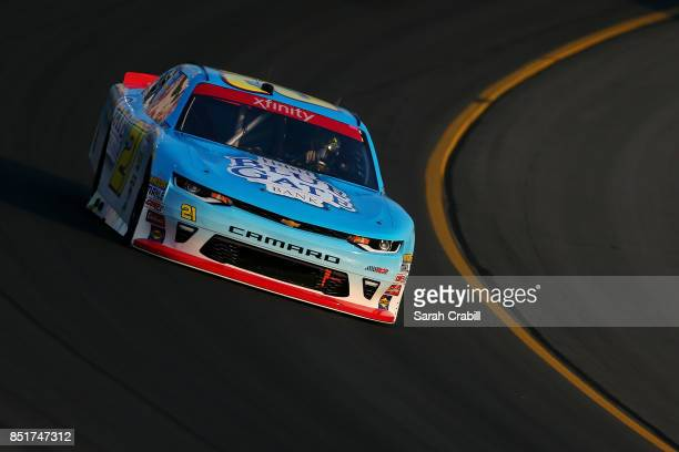 Daniel Hemric driver of the Blue Gate Bank Chevrolet practices for the NASCAR Xfinity Series VisitMyrtleBeachcom 300 at Kentucky Speedway on...