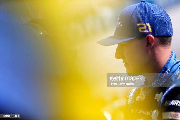 Daniel Hemric driver of the Blue Gate Bank Chevrolet stands on the grid during qualifying for the NASCAR XFINITY Series 'Use Your Melon Drive Sober...
