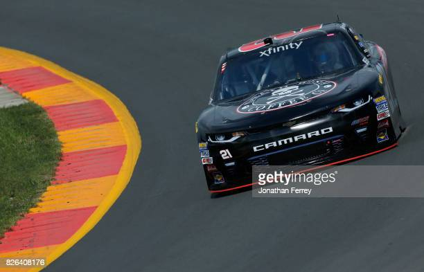 Daniel Hemric driver of the Death Wish Coffee Chevrolet drives during practice for the NASCAR XFINITY Series Zippo 200 at The Glen at Watkins Glen...