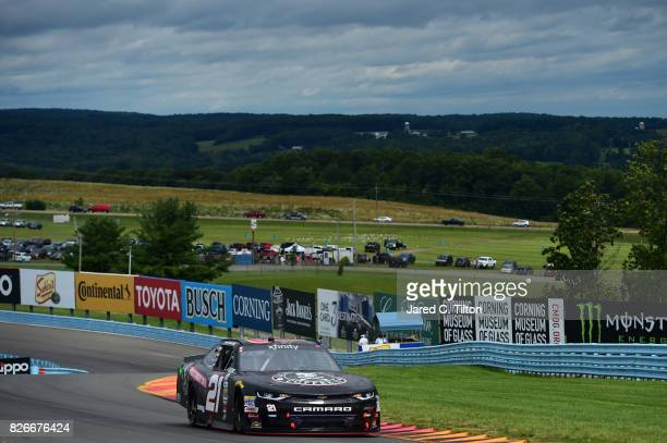 Daniel Hemric driver of the Death Wish Coffee Chevrolet drives during qualifying for the NASCAR XFINITY Series Zippo 200 at The Glen at Watkins Glen...