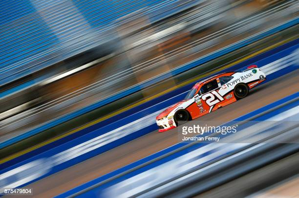 Daniel Hemric driver of the Poppy Bank Chevrolet practices for the NASCAR XFINITY Series Championship Ford EcoBoost 300 at HomesteadMiami Speedway on...