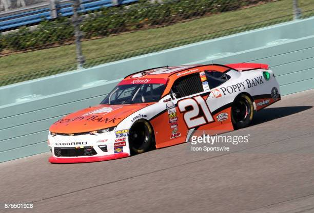 Daniel Hemric runs during practice for the NASCAR Xfinity Series Ford EcoBoost 300 on November 17 2017 at Homestead Miami Speedway Homestead FL