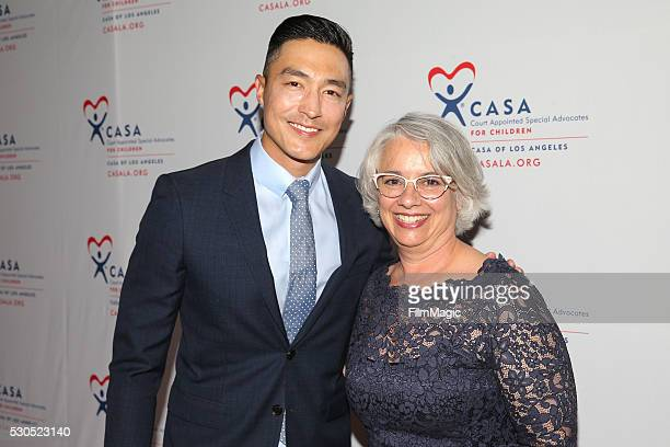 Daniel Henney and CASA's Dilys Garcia attend the 4th Annual Evening To Foster Dreams at The Beverly Hilton Hotel on May 10 2016 in Beverly Hills...