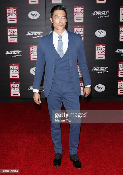 Daniel Henney arrives at the Los Angeles premiere of 'Big Hero 6' held at the El Capitan Theatre on November 4 2014 in Hollywood California