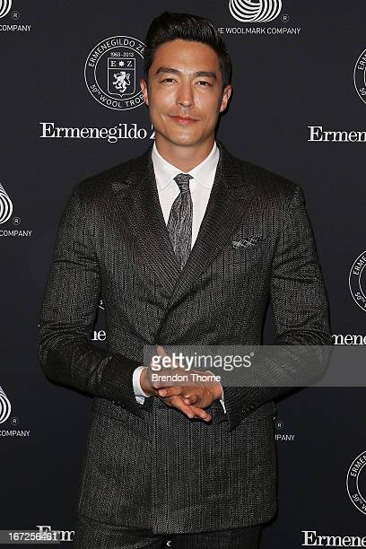 Daniel Henney arrives for the 50th Anniversary Wool Awards at the Royal Hall of Industries Moore Park on April 23 2013 in Sydney Australia