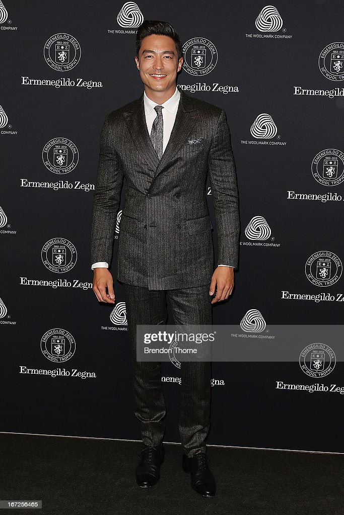 <a gi-track='captionPersonalityLinkClicked' href=/galleries/search?phrase=Daniel+Henney&family=editorial&specificpeople=4350655 ng-click='$event.stopPropagation()'>Daniel Henney</a> arrives for the 50th Anniversary Wool Awards at the Royal Hall of Industries, Moore Park on April 23, 2013 in Sydney, Australia.