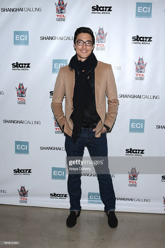 <a gi-track='captionPersonalityLinkClicked' href=/galleries/search?phrase=Daniel+Henney&family=editorial&specificpeople=4350655 ng-click='$event.stopPropagation()'>Daniel Henney</a> attends the 'Shanghai Calling' Los Angeles premiere at TCL Chinese Theatre on February 12, 2013 in Hollywood, California.