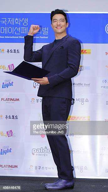 Daniel Henney is nominated as ambassador for The 16th PISAF at Korea Manhwa Museum on September 25 2014 in Bucheon South Korea