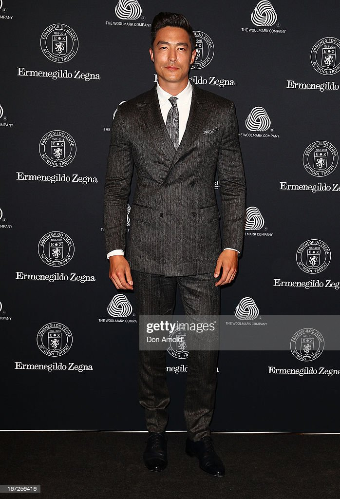 <a gi-track='captionPersonalityLinkClicked' href=/galleries/search?phrase=Daniel+Henney&family=editorial&specificpeople=4350655 ng-click='$event.stopPropagation()'>Daniel Henney</a> poses during the 50th Anniversary Wool Awards at Royal Hall of Industries, Moore Park on April 23, 2013 in Sydney, Australia.