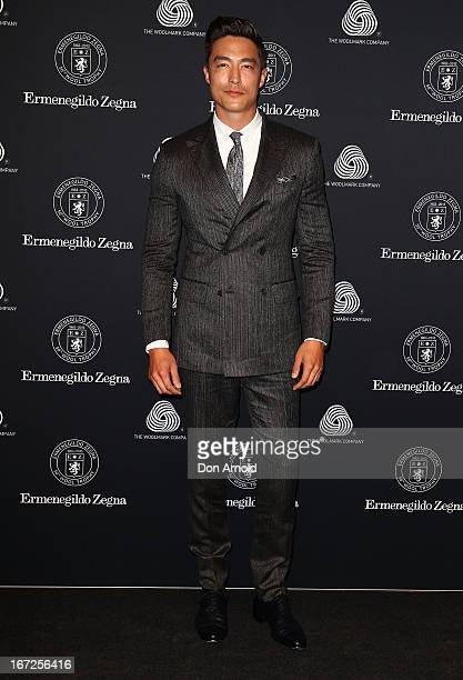 Daniel Henney poses during the 50th Anniversary Wool Awards at Royal Hall of Industries Moore Park on April 23 2013 in Sydney Australia