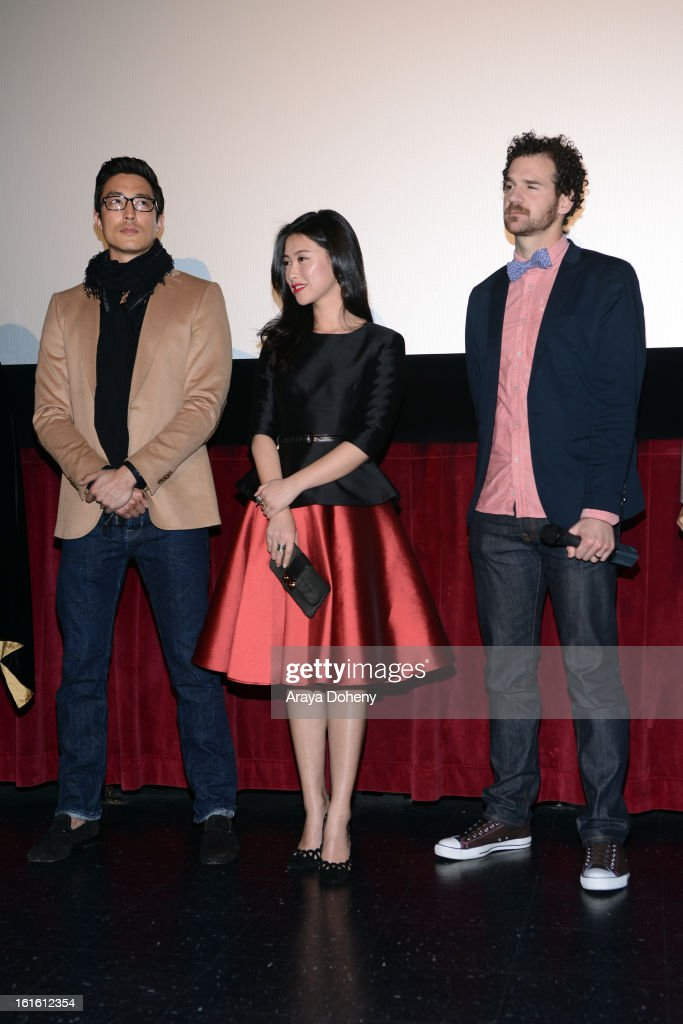 Daniel Henney, Zhu Zhu and Sean Gallagher attend the 'Shanghai Calling' Los Angeles premiere at TCL Chinese Theatre on February 12, 2013 in Hollywood, California.