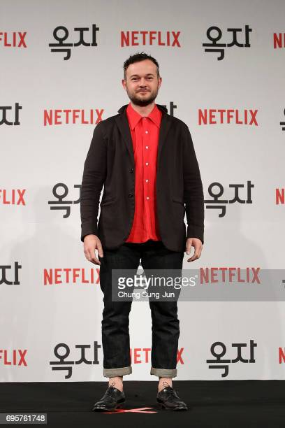 Daniel Henshall attends the official press conference after Korea Red Carpet Premiere of Netflix release 'Okja' at the Four Seasons on June 14 2017...