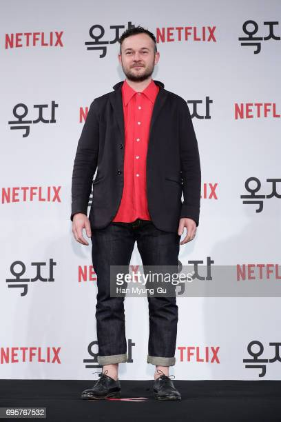 Daniel Henshall attends the 'Okja' press conference on June 14 2017 in Seoul South Korea