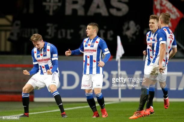 Daniel Hoegh of SC Heerenveen celebrates 01 with Nicolai Naess of SC Heerenveen Martin Odegaard of SC Heerenveen Nicolai Naess of SC Heerenveen...