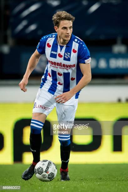 Daniel Hoegh of sc Heerenveen during the Dutch Eredivisie match between sc Heerenveen and VVV Venlo at Abe Lenstra Stadium on December 09 2017 in...