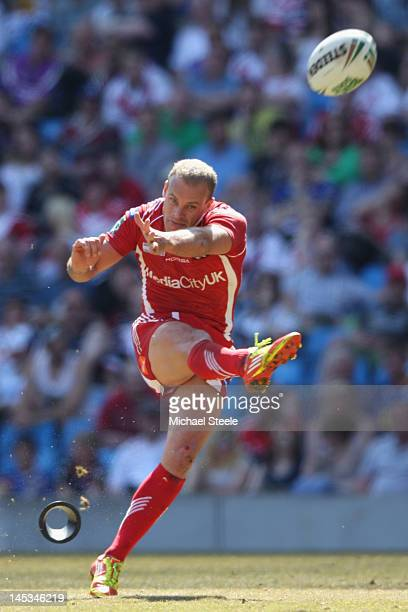 Daniel Holdsworth of Salford City Reds during the Stobart Super League 'Magic Weekend' match between Huddersfield Giants and Salford City Reds at the...