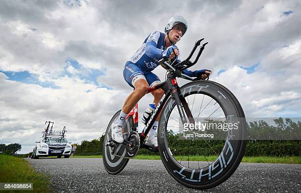 Daniel Holm Foder of Virtu Pro Veloconcept in action during stage four at the Postnord Danmark Rundt race time trial in Nyborg on July 30 2016 in...