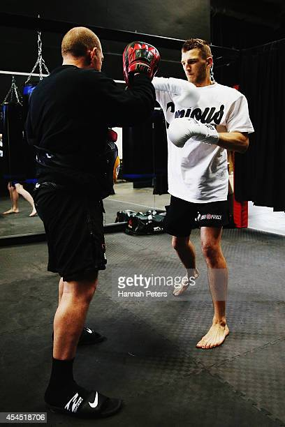 Daniel Hooker trains during the UFC Fight Night media session at SKY TV Gym on September 3 2014 in Auckland New Zealand